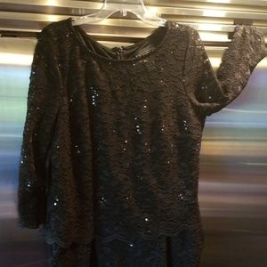 One piece dress with pockets and sequins size 16